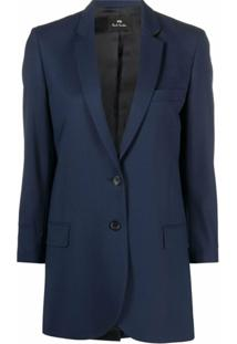 Ps Paul Smith Blazer De Alfaiataria - Azul