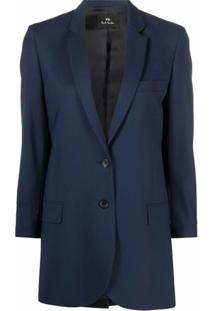 Ps Paul Smith Tailored-Cut Blazer - Azul