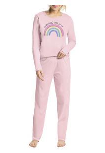 Pijama Longo Arco-Íris Malwee Liberta (1000052282) 100% Algodão