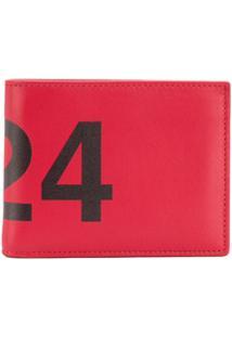 424 Carteira Fairax Com Logo - Vermelho