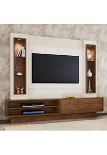 Estante Home Para Tv Até 46 Polegadas 1 Porta De Correr Led Tb129L Dalla Costa Nobre/Off White