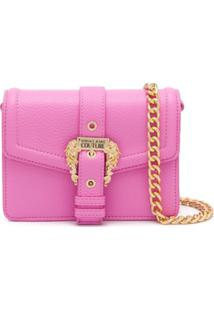 Versace Jeans Couture Engraved Buckle Shoulder Bag - Rosa