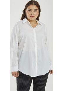 46d62b0e0da2a0 Camisa Alongada Lisa Curve & Plus Size