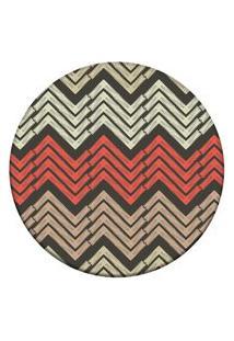 Tapete Love Decor Redondo Wevans Chevron Modern Multicolorido 94Cm