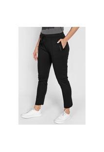 Calça Calvin Klein Jeans Slim Amarração Preta