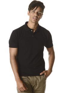Camisa Polo Neesie Slim Preta