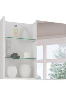 Armário De Banheiro Jasmin Com Espelho 1 Pt Branco 60 Cm