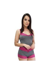 Baby Doll Camisete All Store Cinza