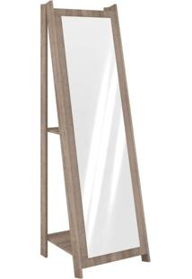 Espelho De Chão Com 2 Prateleiras Retrô 161Cmx50Cm Movelbento Rústico