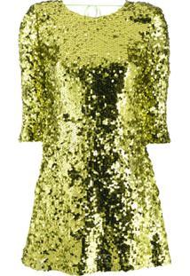 Liu Jo Vestido Mini Com Paetês - Verde