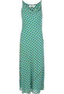 Dvf Diane Von Furstenberg Slip Dress Finley - Azul