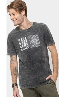 Camiseta Cavalera Glistitucional Masculina - Masculino-Preto