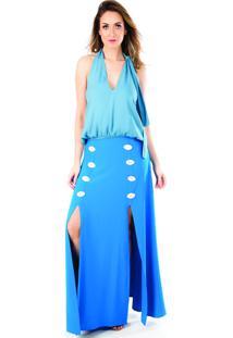 Regata Fernanda Kleis - Crepe - Ester- Azul