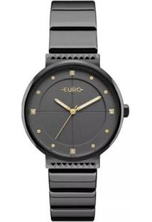 Relógio Feminino Euro Eu2035Yob/4P Slim Aço - Feminino-Grafite
