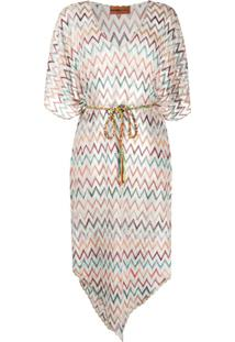 Missoni Mare Metallic Zig-Zag Knitted Kaftan - Neutro