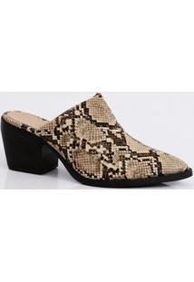 Mule Feminino Estampa Animal Print