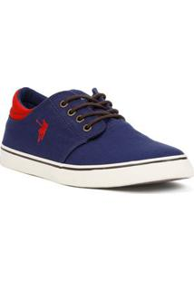 Tênis Casual Masculino Dockside Edge Azul Marinho/Vermelho