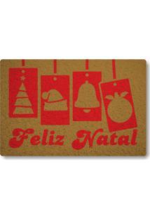 Tapete Capacho Feliz Natal Iii - Ouro