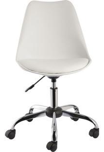 Cadeira Leda Eames Mkc-030 Branca Com Rodizios - 31045 - Sun House