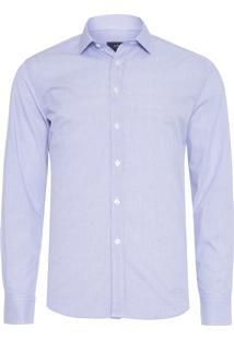 Camisa Masculina Social Slim Fit - Azul
