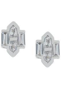 V Jewellery Brinco 'Celeste' Em Prata De Lei - Metálico
