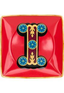 Versace Home Tigela Holiday Alphabet 'I' - Vermelho