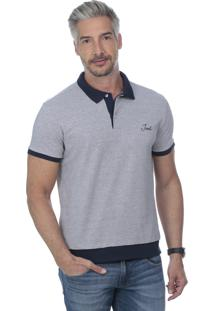 Camisa Polo Javali Bordado Mescla