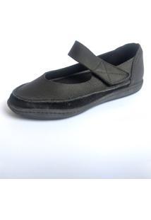 Sapato Boneca S2 Shoes Mercedes Couro Preto