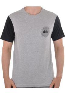 Camiseta Quiksilver Circle Dots Masculino - Masculino-Cinza
