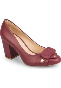 Sapato Tradicional Em Couro Com Recorte Frontal - Bordã´Capodarte