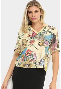 Camiseta Colcci Mico Leão Dourado Feminina - Feminino