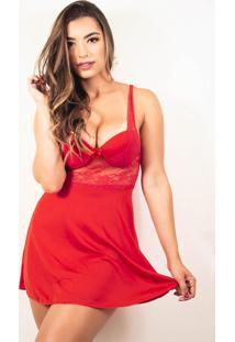 Camisola Bella Fiore Modas Com Bojo Em Tecido Canelado Vermelho