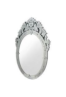 Espelho Veneziano Oval Cor Prata 90 Cm (Alt) - 35451 Sun House