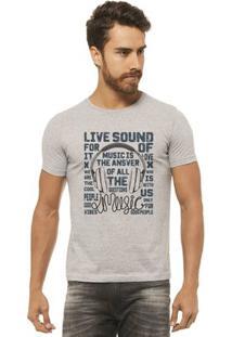 Camiseta Joss - Live Sound - Masculina - Masculino-Mescla