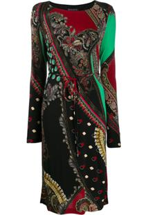 Etro Vestido Com Estampa Paisley - Preto