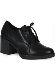 Sapato Oxford Salto Beira Rio Preto