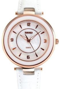 Relógio Skmei Analógico 1059 Branco