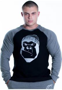 Blusa De Moletom Shatark Gorila Preto