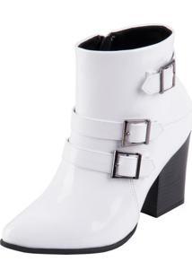 Bota Ramarim Ankle Boot Branco 35