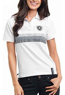 5d5f391c86daa ... Camisa Polo Feminina Botafogo Oficial Fio Tinto