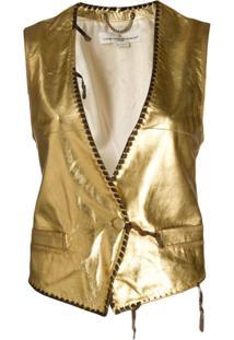 Golden Goose Colete Shiori Metálico - Dourado