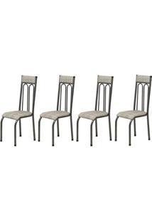 Cadeira Assento Anatomico 4 Peças 00120 Preto Bege Archeli