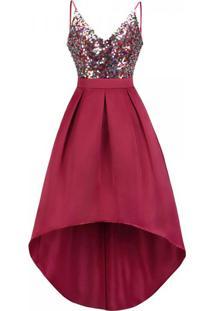 Vestido Mullet Gracious - Vermelho Xg