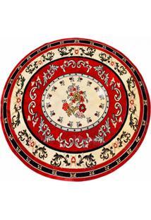 Tapete Veludo Marbella Cl104_6 Red 150 Cm Redondo