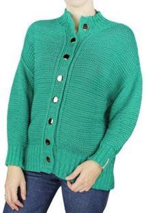 Casaco Malha Biamar Feminino - Feminino-Verde
