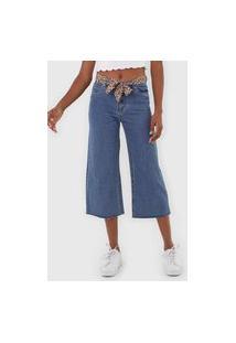Calça Jeans Only Pantacourt Lisa Azul
