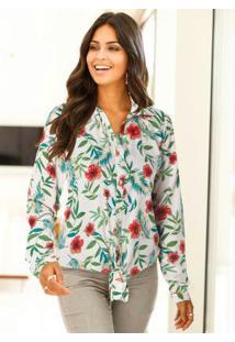 37482051ae Camisa Bonprix Floral feminina