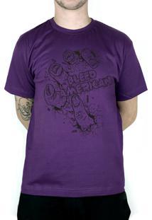 Camiseta Bleed American Zombie Roxo