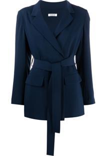 P.A.R.O.S.H. Lightweight Tie Waist Jacket - Azul