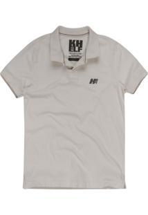 Camisa Polo Khelf Clássica Off White